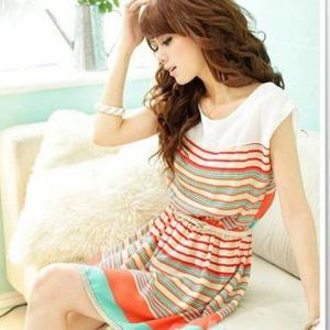 Sweet And Fashion Colorful Stripes ..