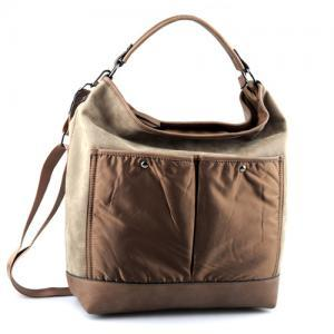 Brown Leather Handbag. Beige Leathe..