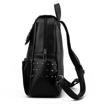 Rivet Shoulder Bag Female Leather H..