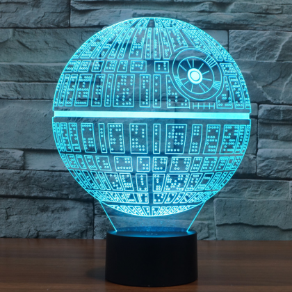 3D Novelty Light Star Wars Death St..
