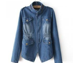 Retro Zipper Pocket Denim Jacket