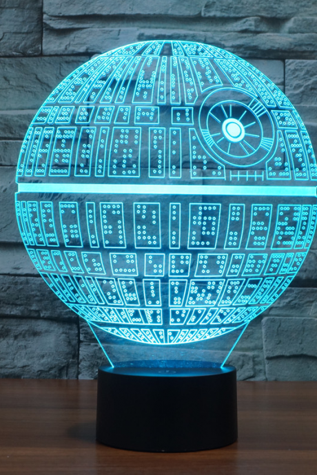 3D Novelty Light Star Wars Death Star 7 Colors Changing LED Lamp 3D Lights Action Figure Kids Gift Toy
