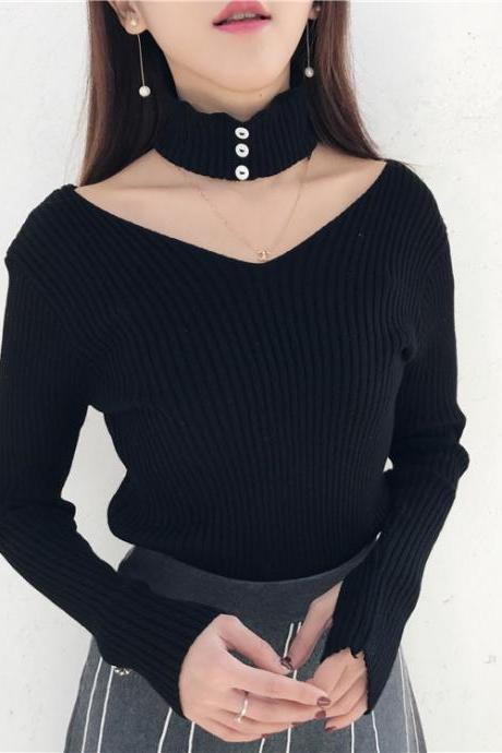 Knit set of long sleeve shirt