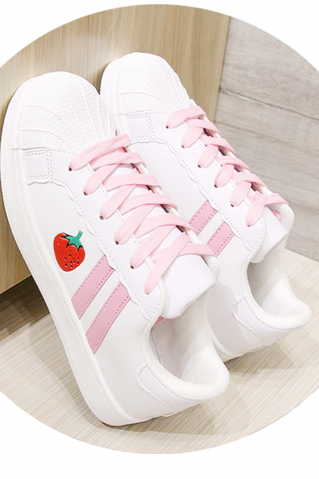 Lovely strawberry sandals athletic shoes