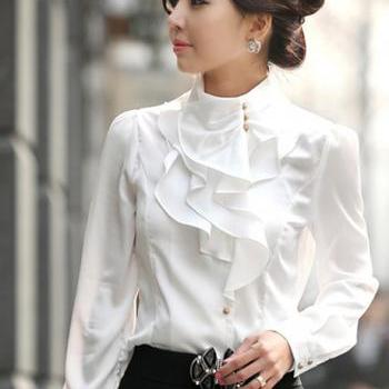 Temperament professional leisure long-sleeved shirt