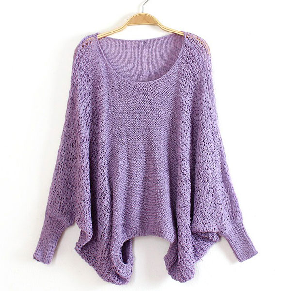 Batwing Sleeve Loose Thin Sweater
